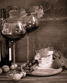 Still life with glasses of red wine — Stock Photo