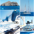 Yacht collage — Stock Photo #25622579
