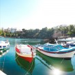 Boats at Voulismeni lake in Agios Nikolaos. Crete — Stock Photo #25622609