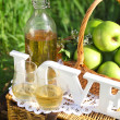 Apple drink outdoors — Stock Photo