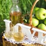 Apple drink outdoors — Stock Photo