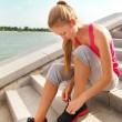 Stock Photo: Sport fitness runner woman