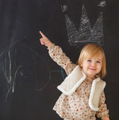 Cute little girl having fun — Stock Photo