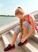 Spor fitness runner kadın — Stok fotoğraf