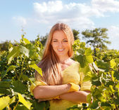 Viticultor de mujer — Foto de Stock