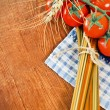 Italian Pasta with cooking ingredients — Stock Photo