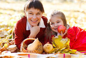 Happy young mother with daughter — Stock Photo