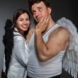 Mr. Angel and Mrs. Angel — Stock Photo