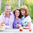 Happy young family with daughter — Stock Photo #29388899
