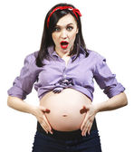 Happy young funny pregnant woman — Foto de Stock