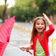Little girl under the rain  — Stockfoto