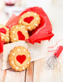 Christmas cookies in the box — Foto Stock