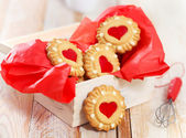 Christmas cookies in the box — Stockfoto