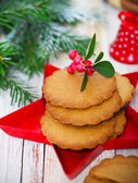 Christmas cookies with Christmas decorations — Photo