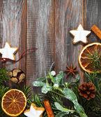 Julkakor och juldekorationer — Stockfoto