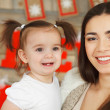 Happy smiling mother with daughter — Stock Photo