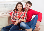 Couple in love at home — Stock Photo