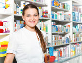 Portrait of female pharmacist — Stock Photo
