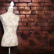 Stok fotoğraf: Antique dress form with vintage look