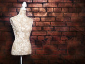 Antique dress form with vintage look — Stock Photo