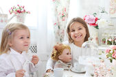 Two little cute sisters playing — Stock Photo