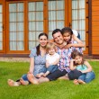 Happy young family with three children — Stock Photo #41633433