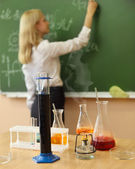 Chemistry laboratory at the classroom — Stock Photo