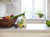 Classical white kitchen at home — Stock Photo