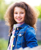 Portrait of a smiling happy little girl  — Stock Photo