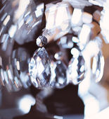 Chrystal chandelier close-up — Stock Photo