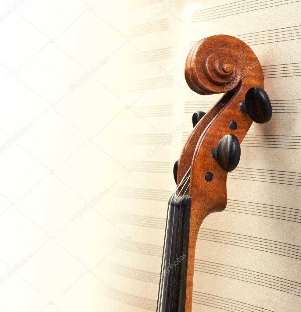 Violin Wallpaper: Stock Photo © Ghenadie #11830366