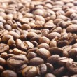Stock Photo: Coffee beans as drink background