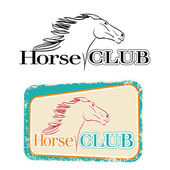 Hand drawn symbol of horse club — Stock Vector