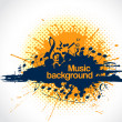 Musical notes making blot as musical background — Vector de stock #19546581