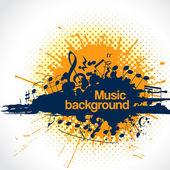 Note musicali facendo una macchia come sfondo musica — Vettoriale Stock