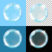 Bubble on different types of background — Stock Vector