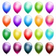 Stock Vector: Set of glossy balloons