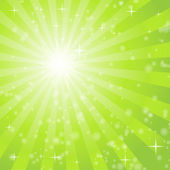 Abstract background with green light rays — Stock Vector