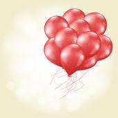 Heart balloons flying — Stock Vector