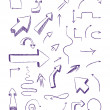 Stock Vector: Doodle arrows as design elements