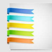 Set of ribbons on white background — Stock Vector