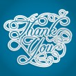 Thank you words with swirls — Stock Vector #22560563