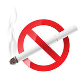 No smoking sign with white cigarette — Stock Vector
