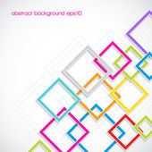 Abstract background with colorful rhombus frames — Stock Vector