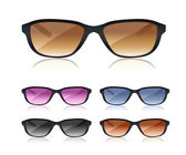 Set of black sunglasses — Stockvektor