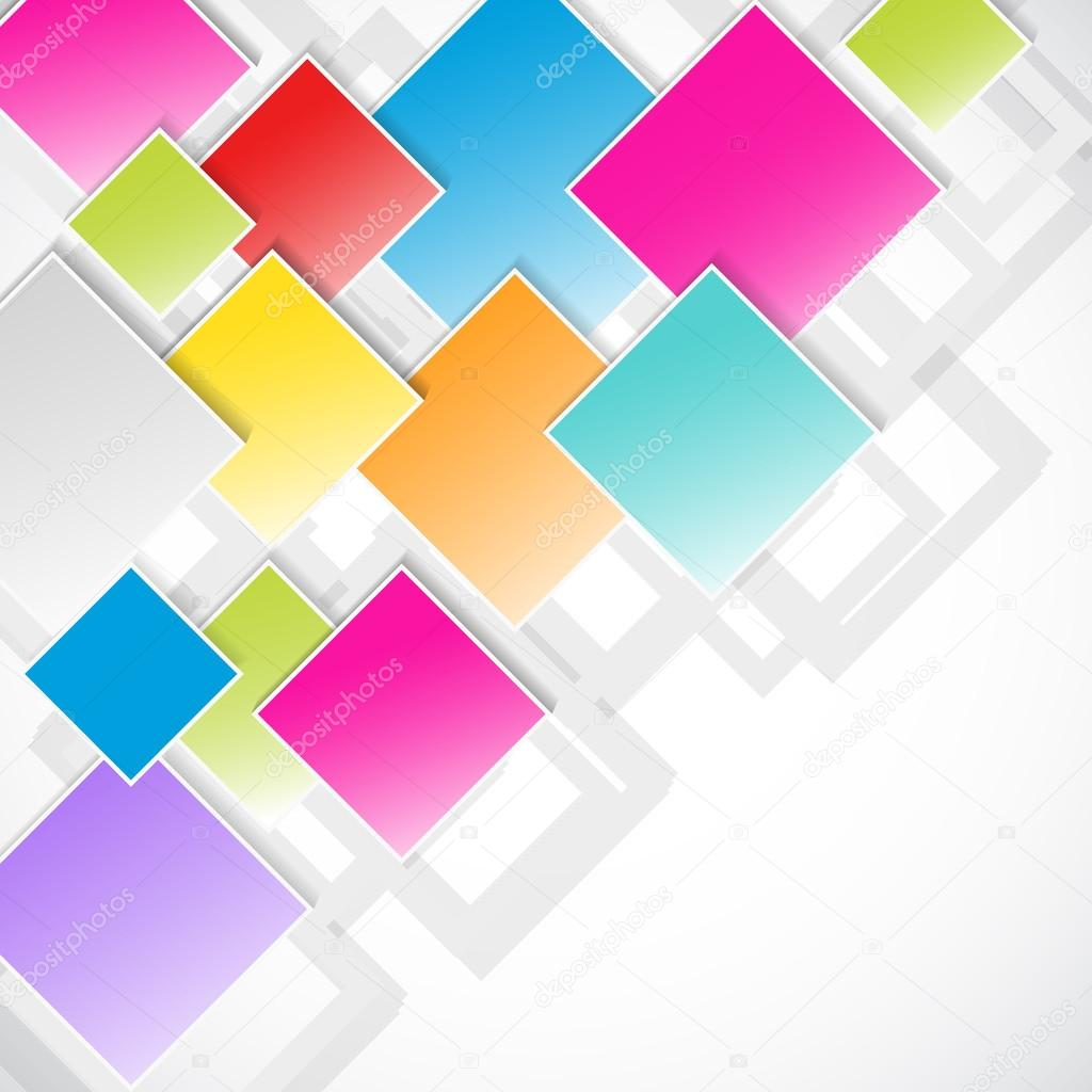 多彩菱形抽象背景 — 矢量图片作者