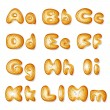 Abc made of bread cakes set1 - Stock Vector