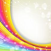 Fondo con colores del arco iris y destellos — Vector de stock