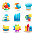 Symbols and icons set — Stock Vector