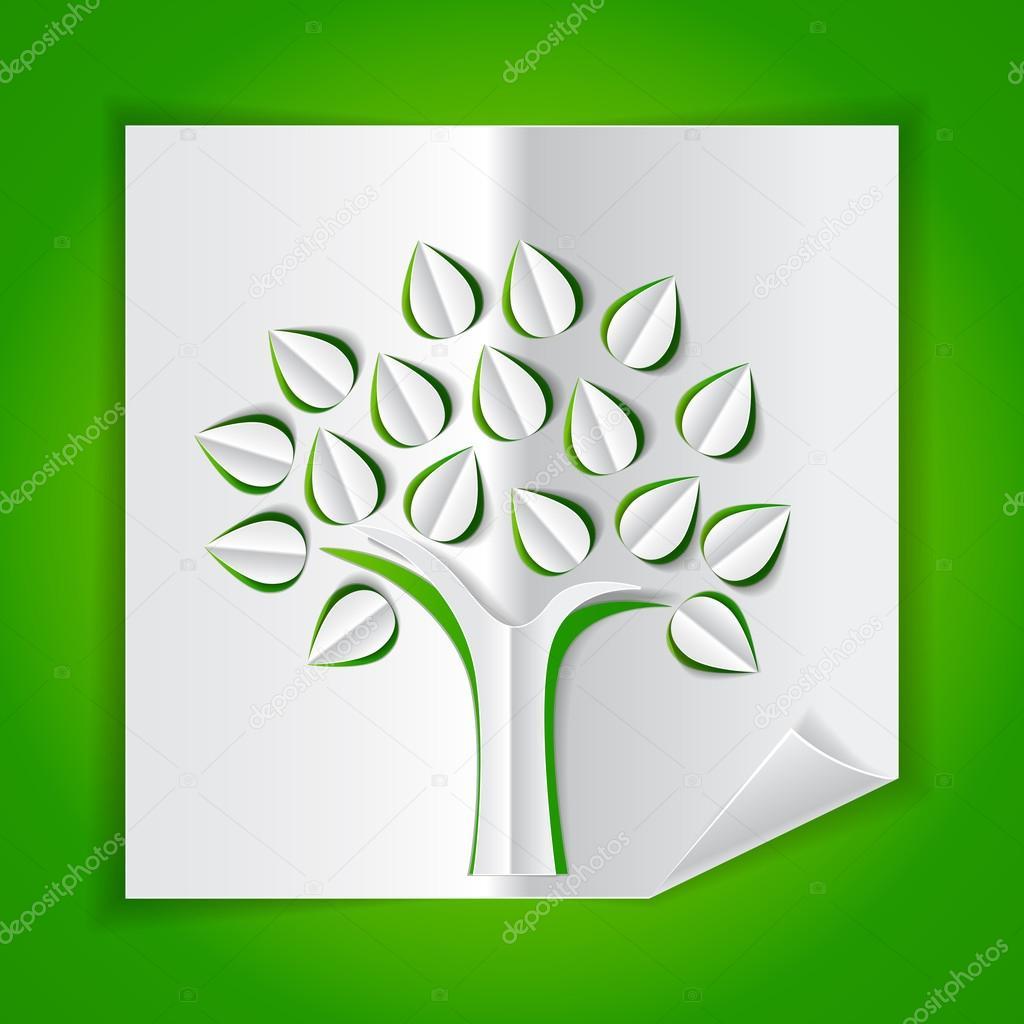 Объемное дерево из бумаги своими руками шаблон